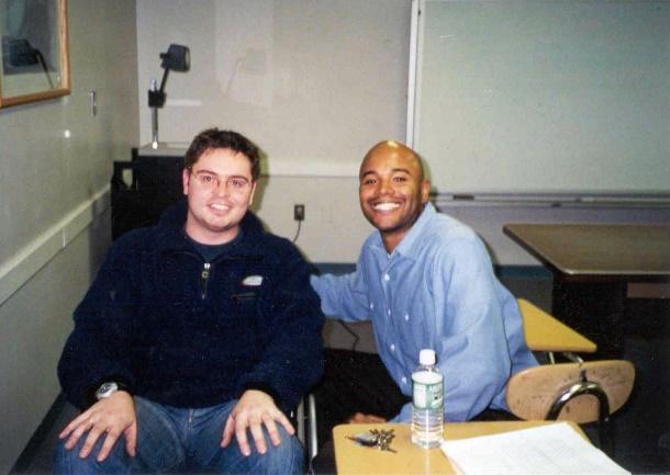 Richard and Professor Joseph in a classroom