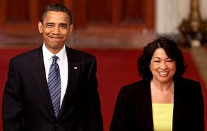 Barack Obama and Sonia Sotamayor